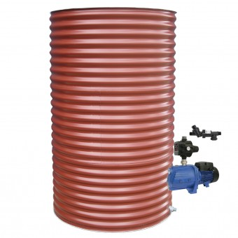 1000L Round Tank & Pump for Double Storey
