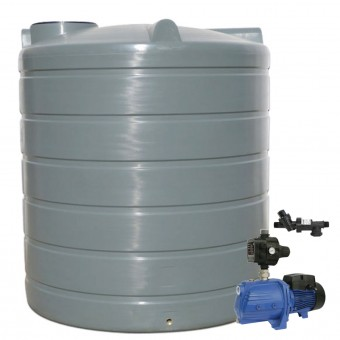 2200L Round Tank & Pump for Double Storey