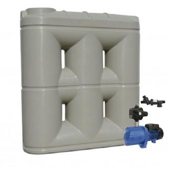 3000L Short Base Slimline Tank & Pump for Double Storey