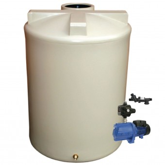 3000L Round Tank & Pump To Double Storey