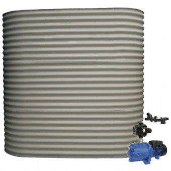 5000L Short Slimline Tank & Pump for Double Storey