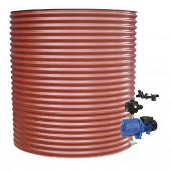 5000L Round Tank & Pump for Double Storey