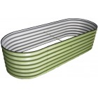 Colorbond Aquaplate 0.80m Raised Oval Garden Bed (1.0m wide)