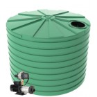 15,000L Round Tank & Domestic Water Pump