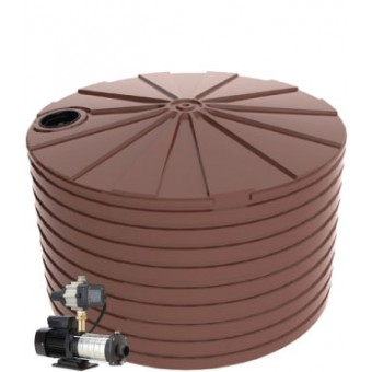 22,500L Round Tank & Domestic Water Pump