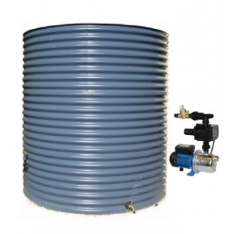 3000L Round Tank & Pump for Single Storey