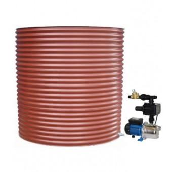 5000L Round Tank & Pump for Single Storey