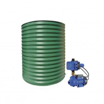 2000L Round Tank & Pump for Small Garden