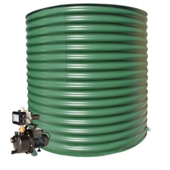 2000L Round Tank & Pump for Large Garden