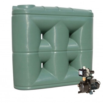 2000L Short Base Slimline Tank & Pump for Large Garden