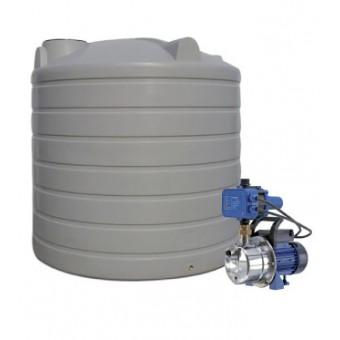 5000L Round Tank & Pump for Large Garden