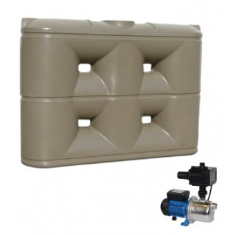 3000L Slimline Tank & Pump for Single Storey