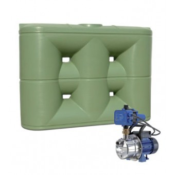 5000L Slimline Tank & Pump for Large Garden