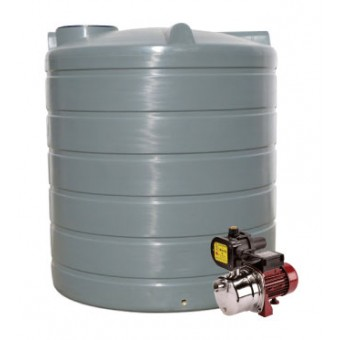 2200L Round Tank & Pump for Small Garden