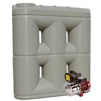 3000L Short Base Slimline Tank & Pump for Small Garden