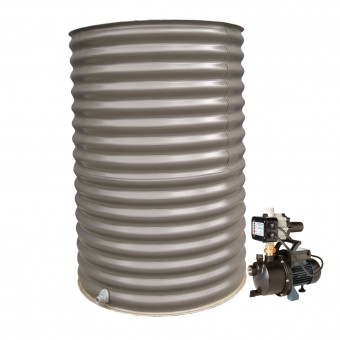 1500L Round Tank & Pump for Large Garden
