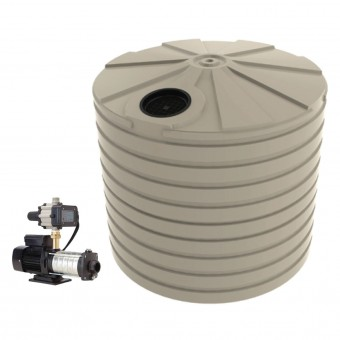 10,000L Round Tank & Domestic Water Pump