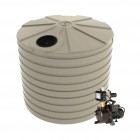 10,000L Round Tank & Pump for Large garden