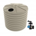 10,000L Round Tank & Pump To Double Storey