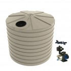 10,000L Round Tank & Pump To Single Storey