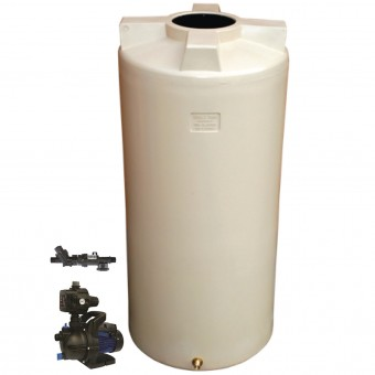 1050L Round Tank & Pump To Single Storey