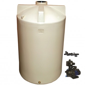3000L Round Tank & Pump To Single Storey
