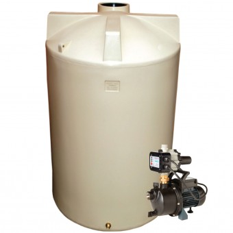 2100L Round Tank & Pump for Large garden