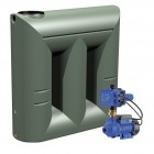 2000L Short Slimline Tank & Pump for Small garden