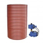 1500L Round Tank & Pump for Small Garden