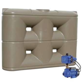2000L Slimline Tank & Pump for Small Garden