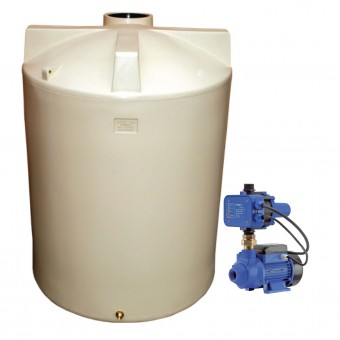 2100L Round Tank & Pump for Small garden