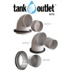 Flanged 90mm Overflow Outlet
