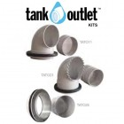 Short 90mm Overflow Outlet