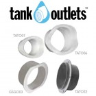 100mm Corrugated Overflow Outlet