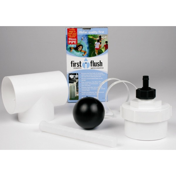 Downpipe 90mm first flush water diverter for First flush diverter plans