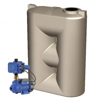 2000L Super Short Slimline Tank & Pump for Small Garden