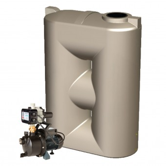 2000L Super Short Slimline Tank & Pump for Medium Garden